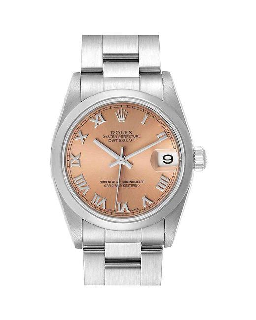 Rolex Pink Datejust 31 Midsize Salmon Dial Ladies Watch 78240