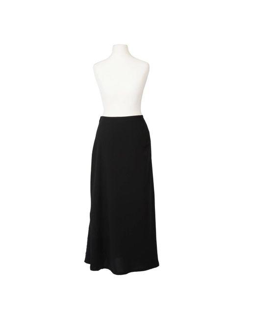 Yohji Yamamoto Black Felt Detail Skirt 1990's
