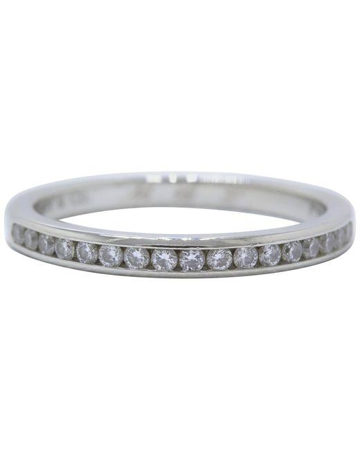 Tiffany & Co Multicolor Round Brilliant Diamond And Platinum Wedding Band Ring 2 Mm