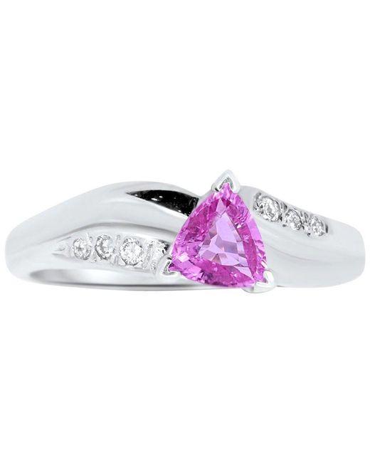 ALBERTO White 0.70 Carat Trillion Cut Pink Sapphire And Diamond Ring