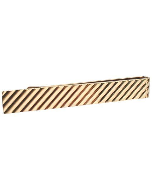 Tiffany & Co Metallic 14 Karat Gold Modern Tie Clip Or Tie Bar