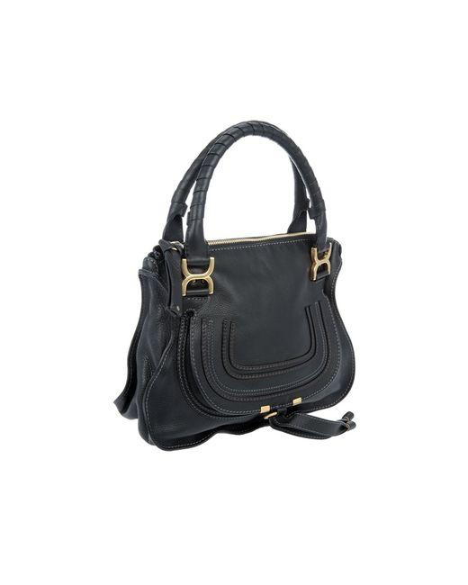 Chlo¨¦ Marcie Medium Shoulder Bag in Black   Lyst