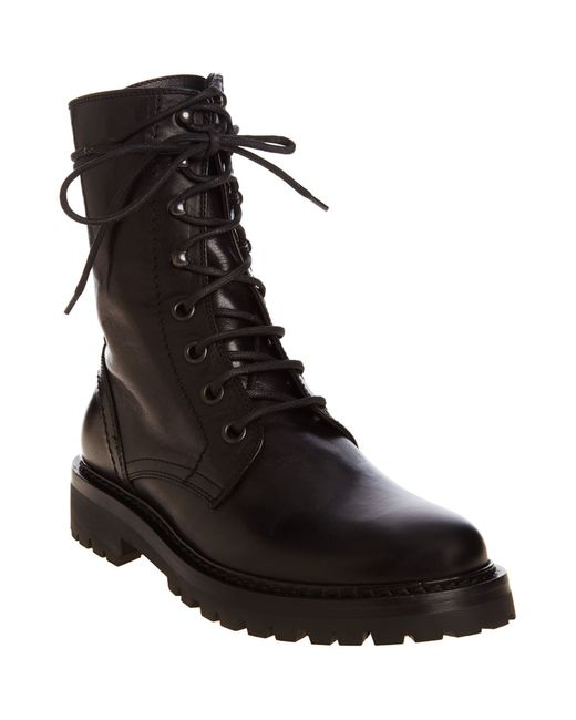 Ann Demeulemeester Combat Boot In Black Lyst