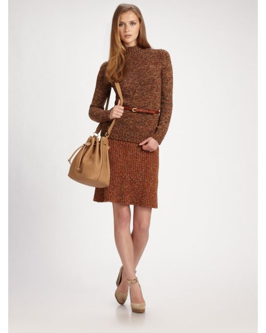 Chloé | Brown Tile Print Ruffled Skirt | Lyst