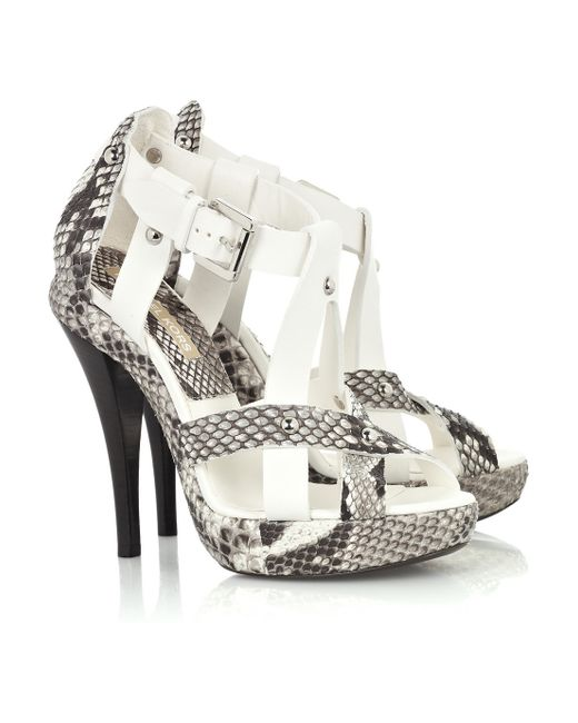 Michael Kors | Multicolor Python and Leather Sandals | Lyst