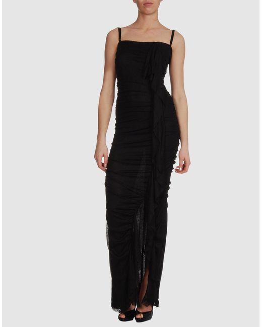 Dolce & Gabbana | Black Ruched Fitted Dress | Lyst