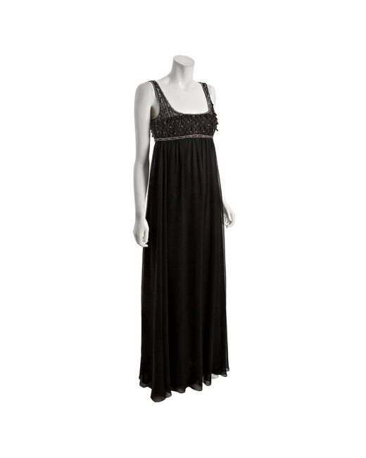 Notte by Marchesa | Black Embellished Tulle And Lace Mini Dress | Lyst