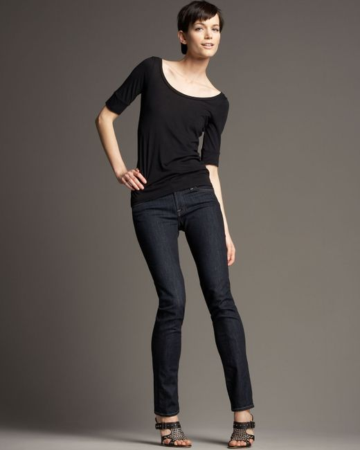 7 For All Mankind | Purple Roxanne Skinny Rinse Jeans | Lyst