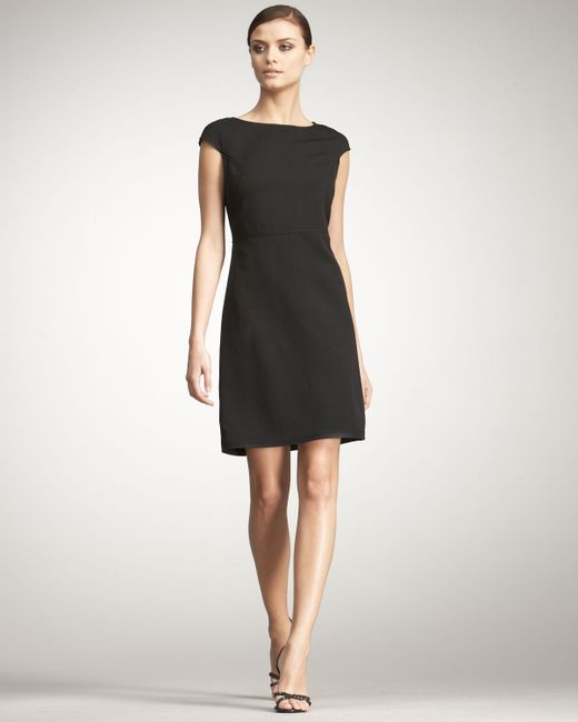 Bottega Veneta | Black Cap-sleeve Dress | Lyst