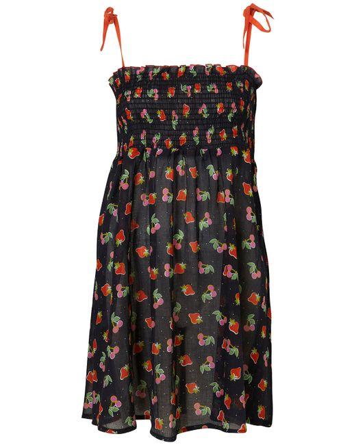 TOPSHOP   Black Cactus Print Oversized Shirt Dress   Lyst