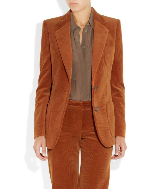 Chloé | Orange Corduroy Jacket | Lyst