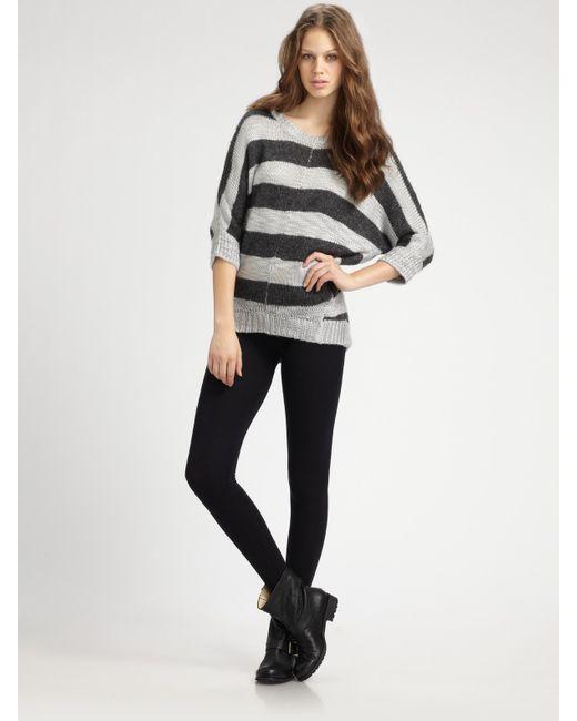 Splendid | Black Stretch Cotton-&-modal Leggings | Lyst
