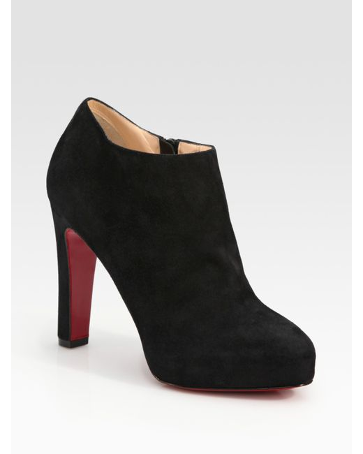 Christian Louboutin | Purple Bianca 120 Suede Platform Booties | Lyst