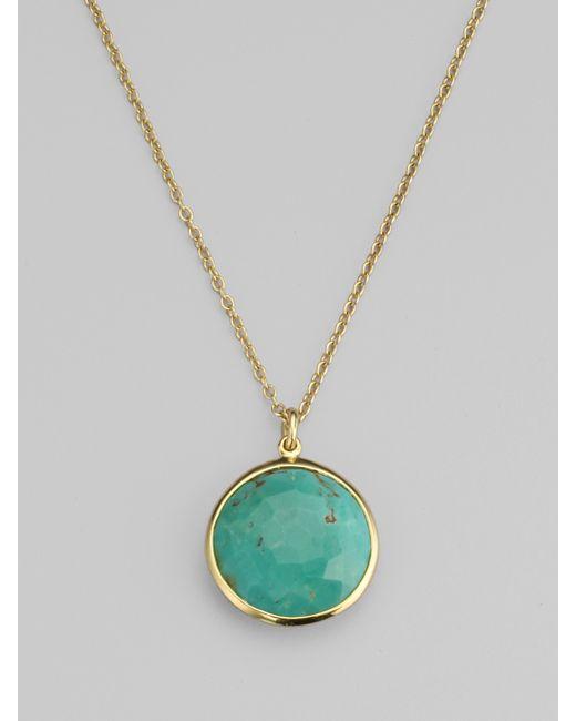 Ippolita | Metallic Lollipop Swiss Blue Topaz & 18k Yellow Gold Pendant Necklace | Lyst