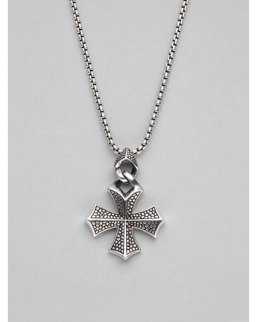 Stephen Webster   Metallic Sterling Silver Cross Necklace for Men   Lyst