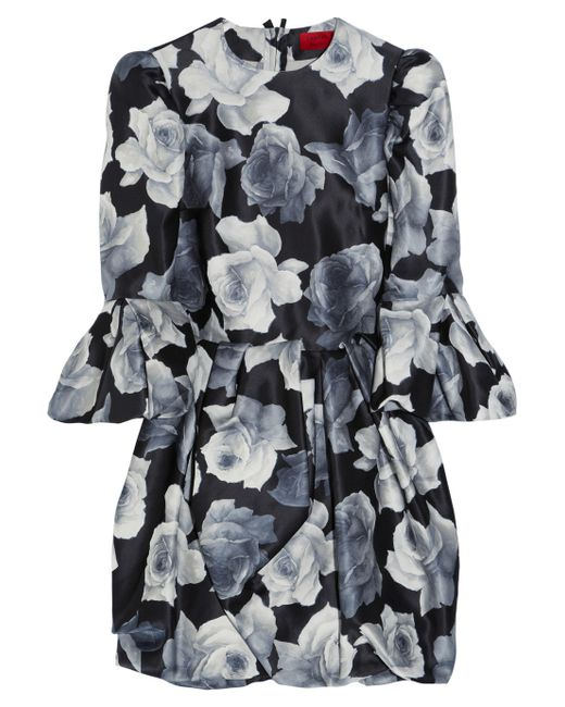 Lanvin | Floralprint Cotton and Silkblend Dress | Lyst
