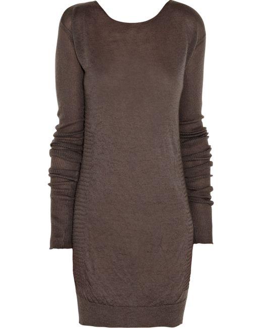 Rick Owens   Brown Virgin Wool Pullover   Lyst