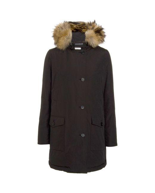 Woolrich   Luxury Acrtic Hooded Parka - Black   Lyst