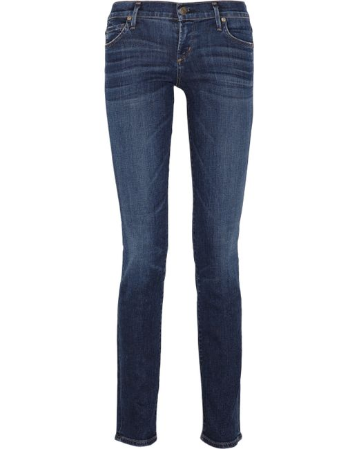 Citizens of Humanity | Blue Ava Low-rise Straight-leg Jeans | Lyst