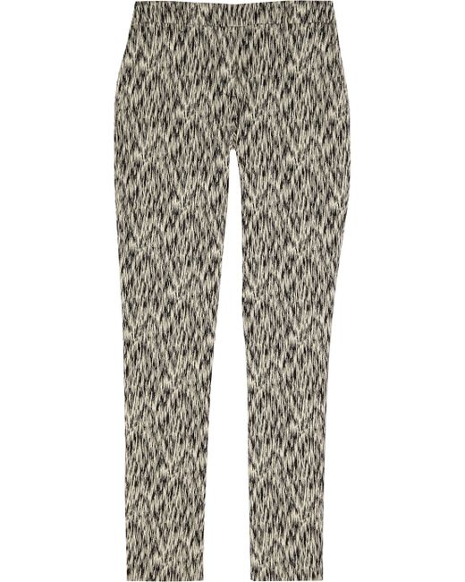 Lela Rose | Black Sam Cotton-blend Jacquard Bootcut Pants | Lyst