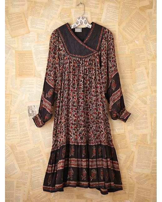 Free People | Multicolor Fp Vintage 70s Boho Printed Dress | Lyst