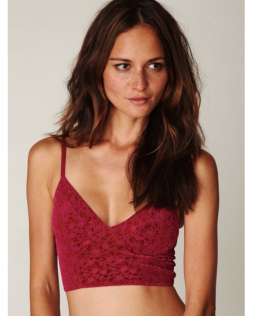 Free People   Red Wild Roses Gallon Racerback Wild Roses Knicker Wild Roses Thong   Lyst