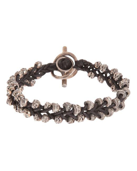 Tobias Wistisen | Metallic Skull Detail Bracelet for Men | Lyst