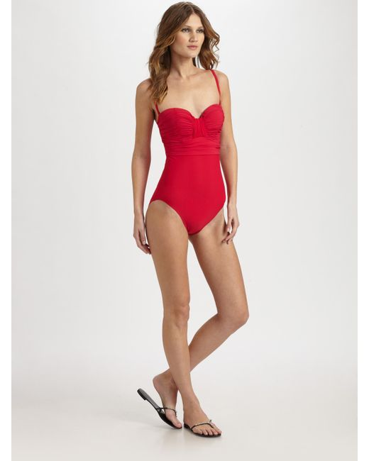 Gottex | Red Beach Goddess One-piece Shaping Swimsuit | Lyst