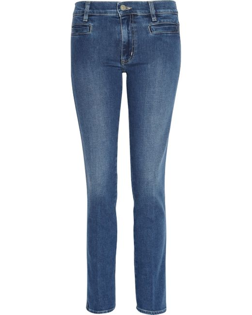 MiH Jeans | Blue Marty Cropped Flare Jeans | Lyst