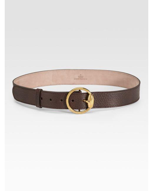 Gucci | Brown Horsebit Ring Buckle Belt | Lyst