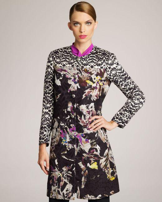 Etro | Black - Floral Jacquard Trapeze Coat - Women - Silk/polyester/acetate - 46 | Lyst