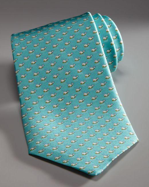 Ferragamo | Blue Swimming Whales Tie, Aqua for Men | Lyst