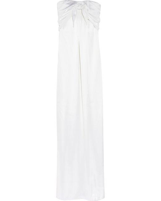 Halston Heritage | White Crepe Dress | Lyst