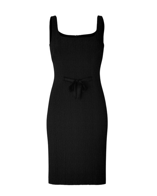 Boutique Moschino | Black Embellished Neck Dress | Lyst