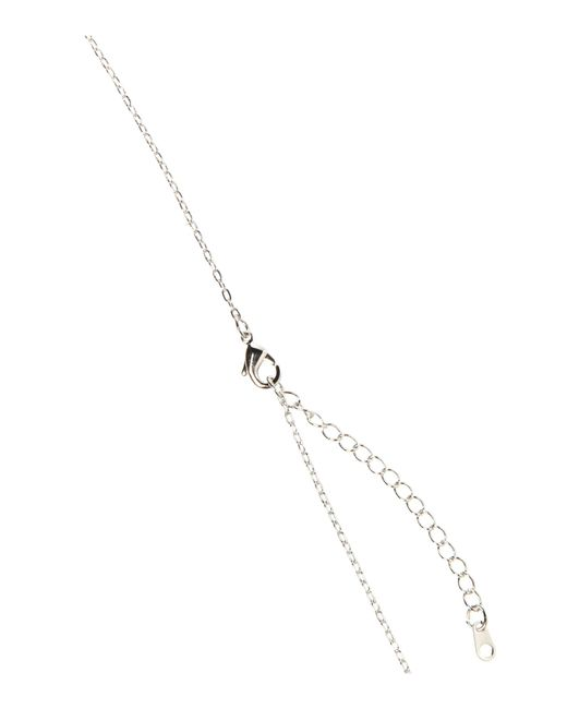 Mikey | White Bow Necklace | Lyst