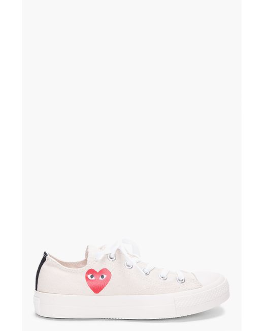 Play Comme des Garçons | Pink Canvas Red Heart Low Sneakers for Men | Lyst