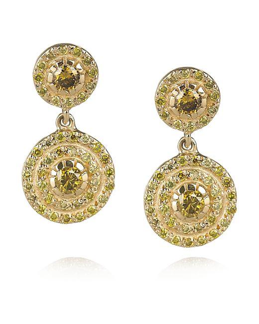 Ileana Makri | Metallic Solitaire 18-karat Gold Diamond Earrings | Lyst
