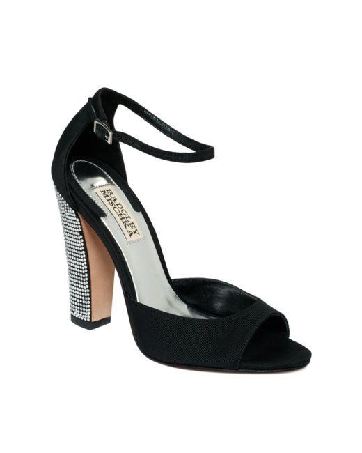 Badgley Mischka   Wynter Evening Sandal Black Fabric   Lyst