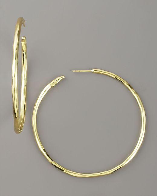 ippolita thin glamazon hoop earrings in gold lyst