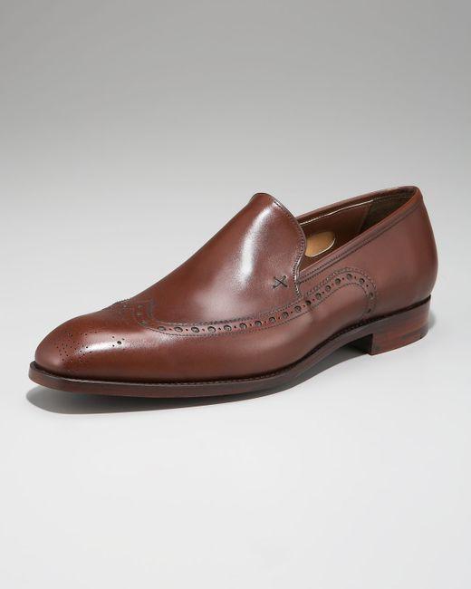 Barker Black | Brown Hartwell Wing-tip Loafer for Men | Lyst