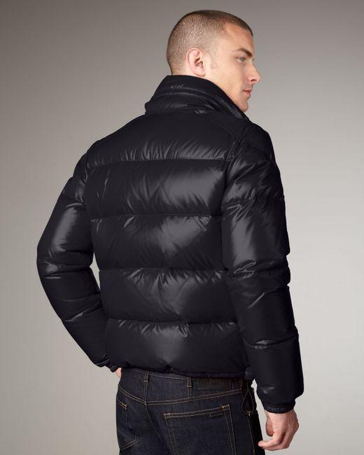 Moncler | Blue Puffer Bomber Jacket for Men | Lyst