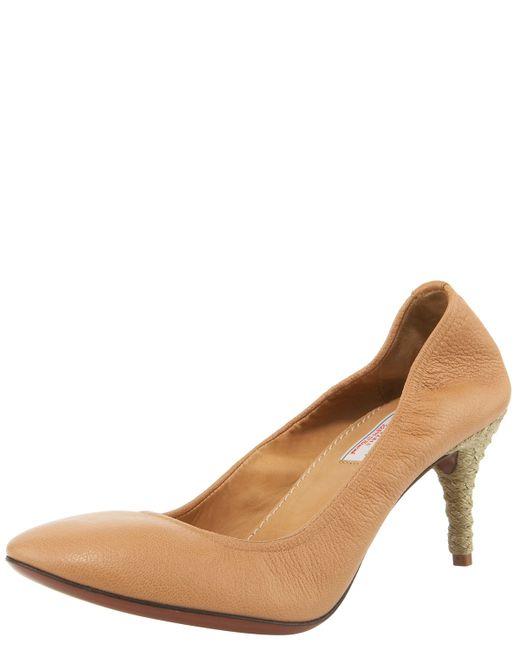 Lanvin | Natural Espadrille-heel Ballerina Pump | Lyst