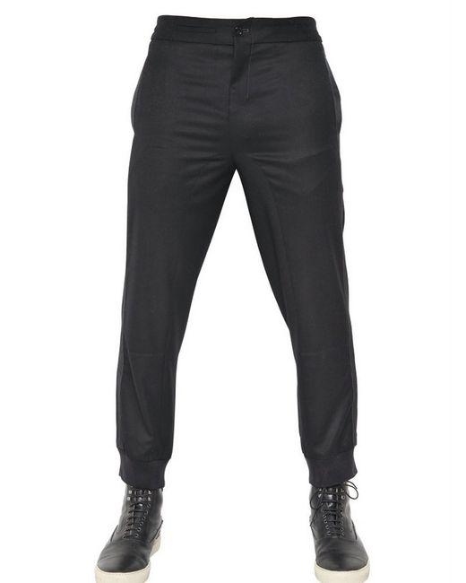 Alexander McQueen | Black Slim Straight Tux Trousers for Men | Lyst