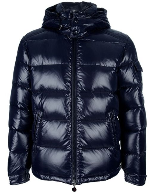 Moncler | Blue Navy Down Maya Jacket for Men | Lyst