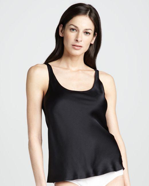 Josie natori Silk Camisole in Black   Lyst