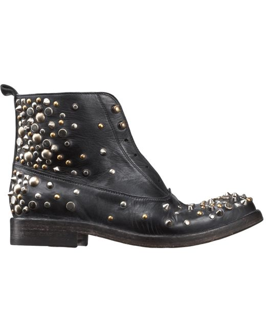 Sartore Women S Studded Laceless Boots In Black Lyst