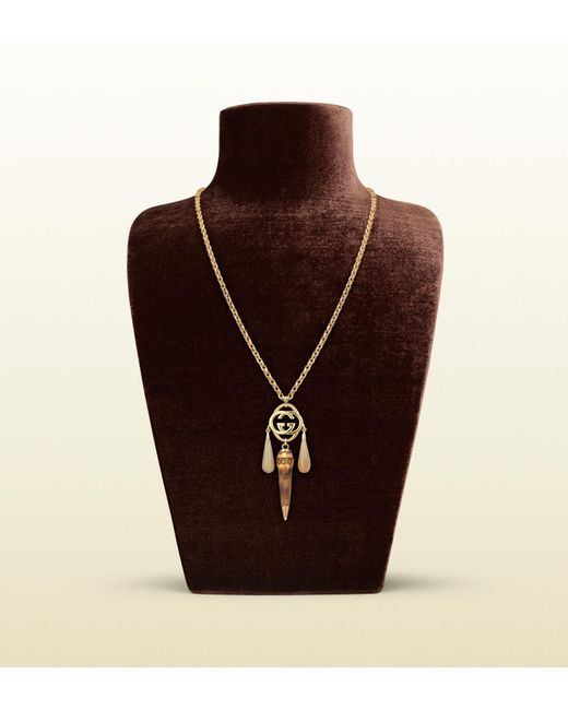 Gucci Natural Necklace with Interlocking G Motif