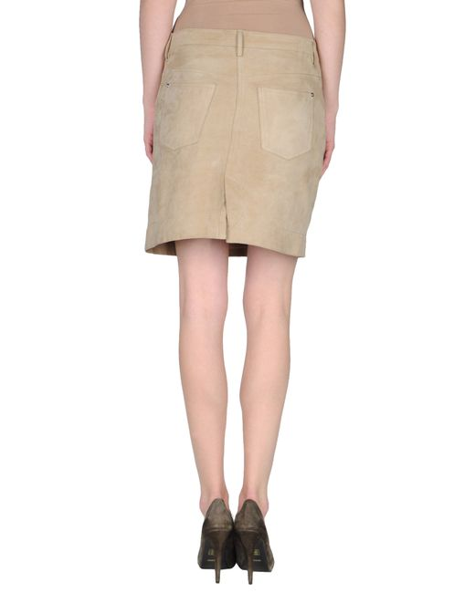 gant leather skirt in beige sand save 30 lyst