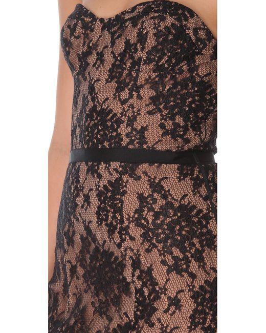 Haute Hippie Lace Corset Dress In Black Natural Lyst