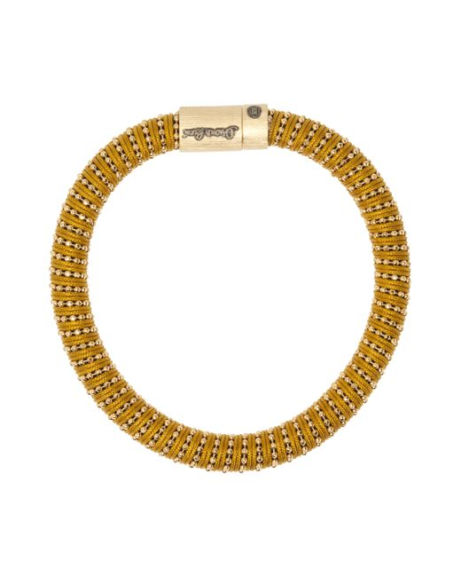 Carolina Bucci | Metallic Yellow Twister Band Bracelet | Lyst